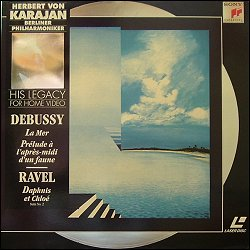SONY SLV 53479 (PAL) Debussy La Mer :1985 B.P.O.. Debussy Prelude a l'apres-midi d'un faune :1985 B.P.O.. Ravel Daphnis et Chloe-Suite No 2 : 1985 B.P.O.